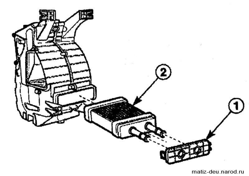 радиатора отопителя;